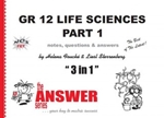 Picture of The Answer Series GR 12 LIFE SCIENCES 3-in-1 Part 1 CAPS